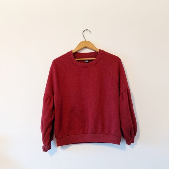 Aerie Crew neck sweater size M balloon sleaves